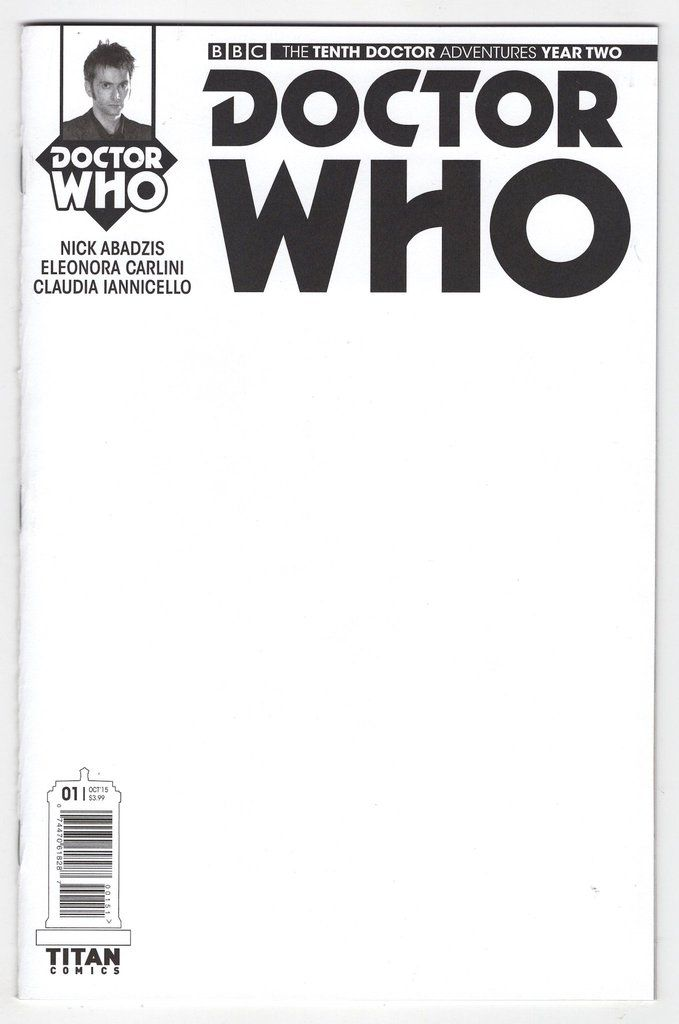 Doctor Who Tenth Doctor Year Two #1 Blank Sketch Variant Cover (2015)