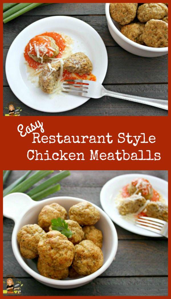 Easy Restaurant Style Chicken Meatballs  #meatballs #chicken #EasyDinner
