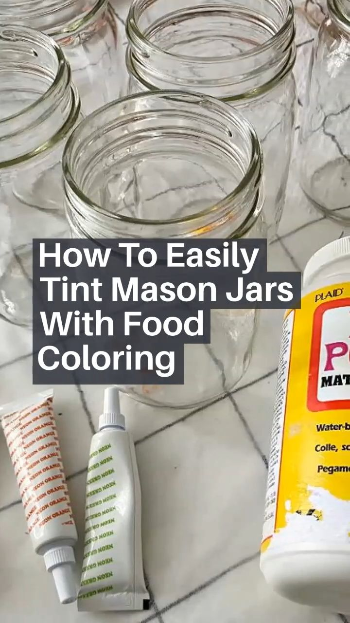 Mason Jar Projects, Mason Jar Crafts, Mason Jar Diy, Bottle Crafts, Crafts To Do, Home Crafts, Crafty Craft, Crafting, Tinted Mason Jars