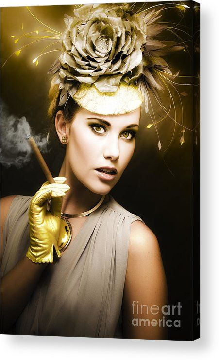Luxury Acrylic Print featuring the photograph Classic Portrait Of Vintage Cinema by Jorgo Photography - Wall Art Gallery