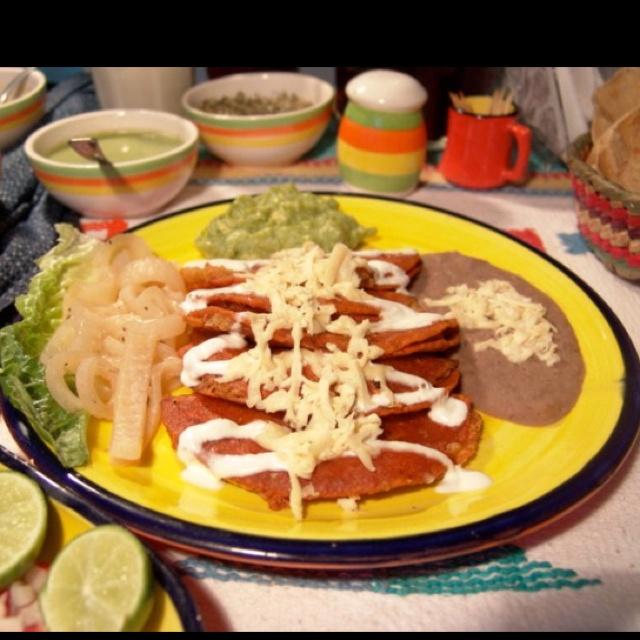 Authentic San Luis potosi enchiladas mmm good