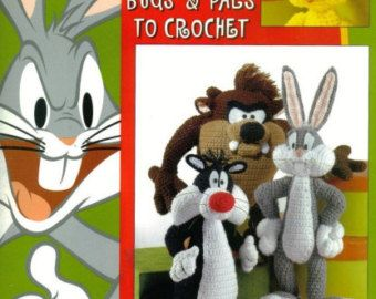 Vintage Crochet PDF Pattern Winnie the Pooh Tigger Piglet and