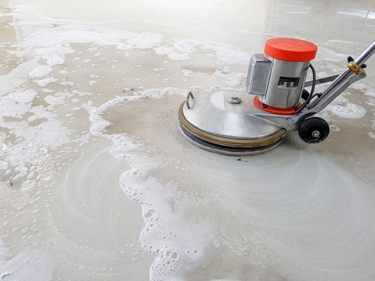 How To Do Concrete Grinding And Polishing Diy Polished Concrete Floor Seal Concrete Floor Cleaning Concrete Floors
