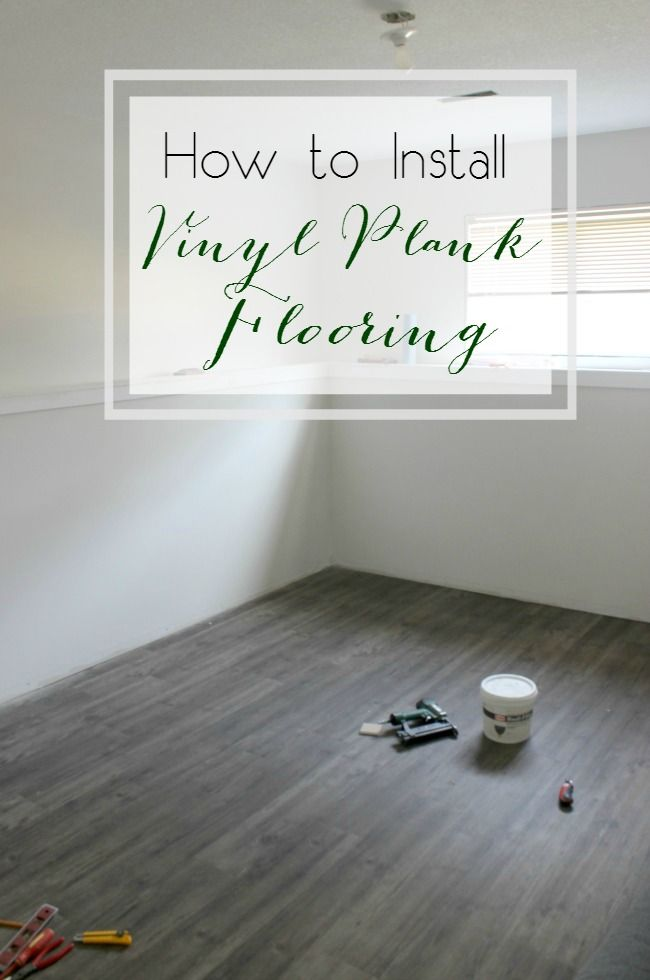 How to Install Vinyl Plank Flooring by Love Create Celebrate - as featured on the Weekend Wind Down Blog Party