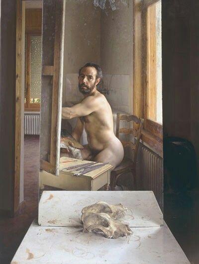 Pintando en Julio. Eduardo Naranjo.