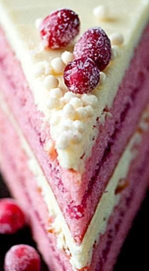 Bílá čokoláda Cranberry dort ❊ podle Maricela