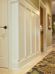 high wainscoting in tall long hallways google search