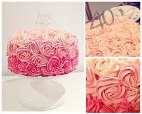 I'm loving the rose cakes...an easy decoration for homemade cakes and special occasions