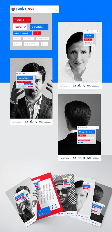 """Identité visuelle festival """"Rendez-vous en Croatie""""Graphéine – Agence de communication Paris Lyon"""