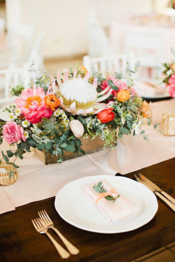 romantic reception table - photo by Julie Harmsen Photography http://ruffledblog.com/romantic-big-island-hawaii-wedding