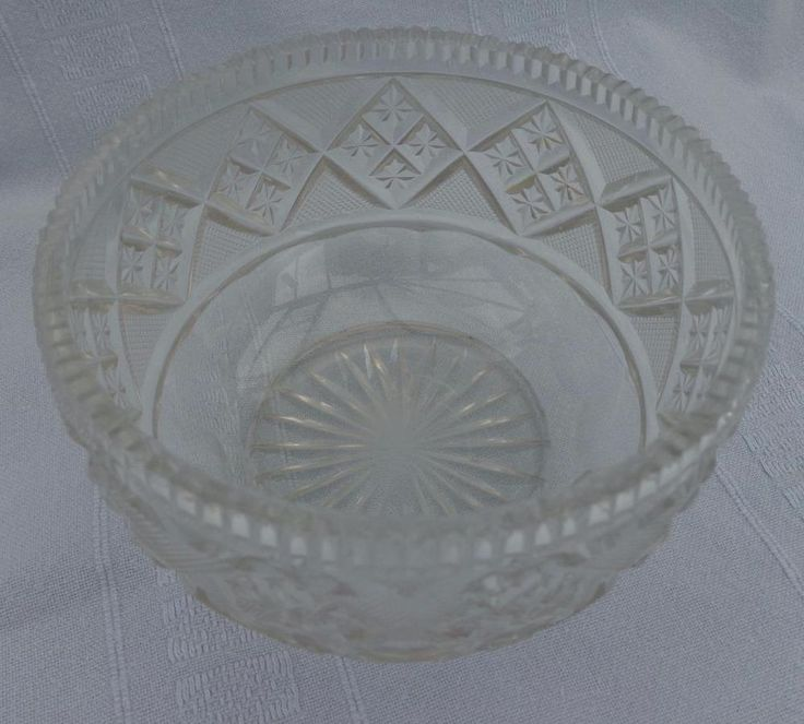 Antique Georgian / Victorian Quality Tea Caddy Cut Glass Mixing Bowl Poss Irish