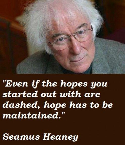 Seamus Heaney - Ireland's poet.  #HappyHubDay