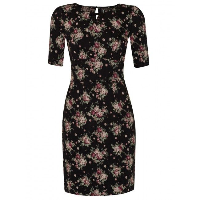 Vive Maria True Romance Comfortabel romantisch jurkje zwart bloemenprint romantic dress black floral print