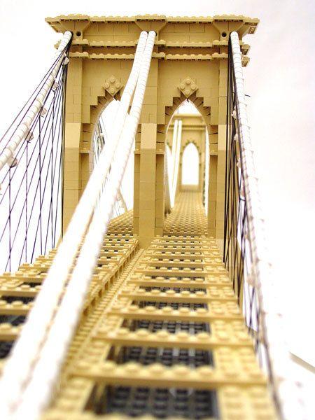 """""""Lego Brooklyn Bridge"""" by Nathan Sawaya"""