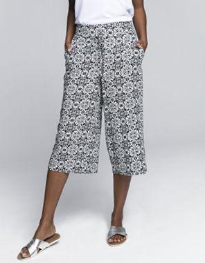 Tile print culotte