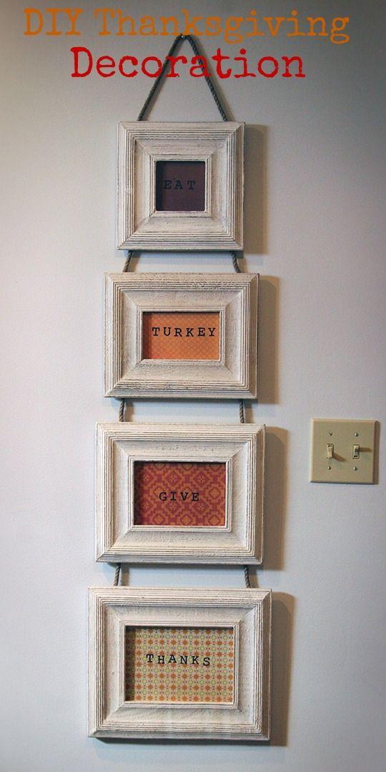 DIY Frame Decoration made from Cost Plus World Market Frames, stamps and craft paper via http://www.bonbonrosegirls.com