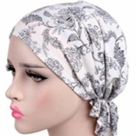 Turban Women Hat India Cap Muslim Hats Hairnet Chemo Cap Flower Bonnet Beanie For Women Headwear Hats 12