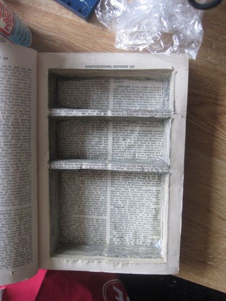 How to make a secret hiding place within a book.