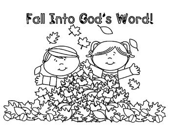 fall religious coloring pages - photo#1