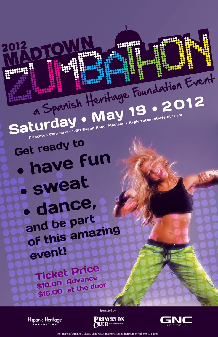 Logo And Poster Design By Diana Cueva Zumba Zumbathon