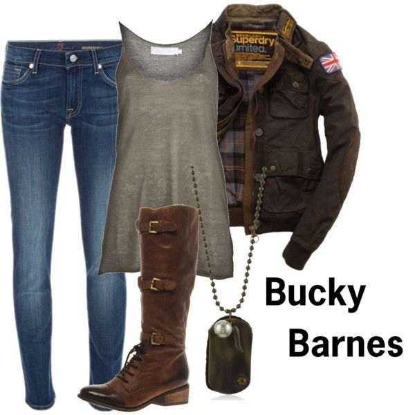 """Bucky Barnes"" by comic-book-fashion on Polyvore"