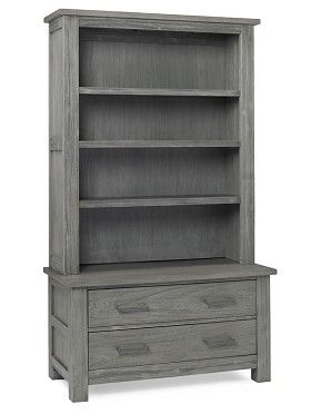 Rustic nursery furniture | Lucca Chest & Bookcase in Weathered Grey