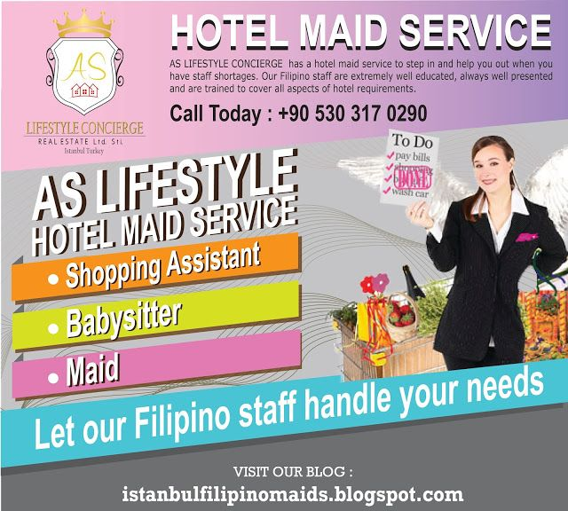 Istanbul Filipino Maids by AS Lifestyle Concierge and Real Estate Ltd. Sti.: Hotel Filipino Maid Service