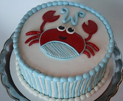 "crab cake :) @Amanda Snelson Winks and it even has a ""W"" on it!!"
