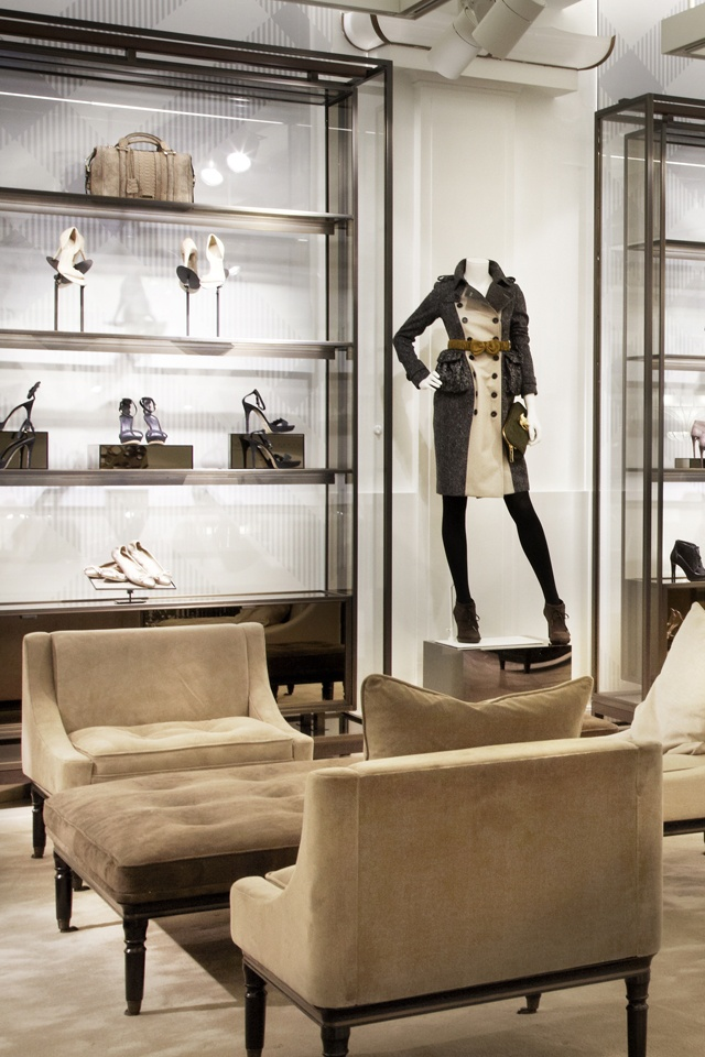 Inside Burberry 121 Regent Street, London, the new Burberry World Live Flagship. #visualmerchandising #interior #design