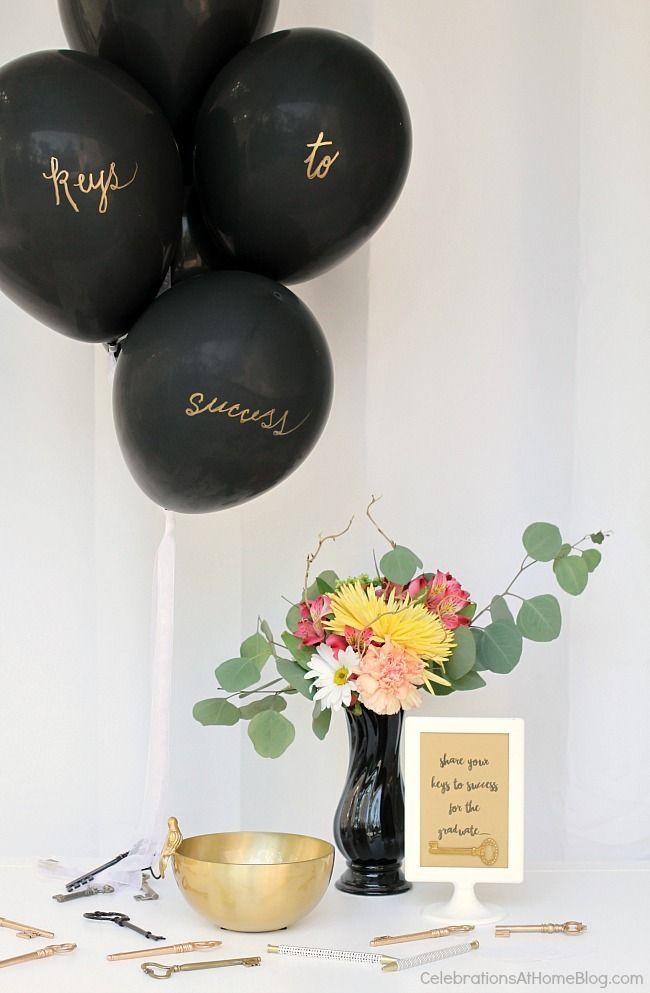 Keys to Success Theme Balloon Display