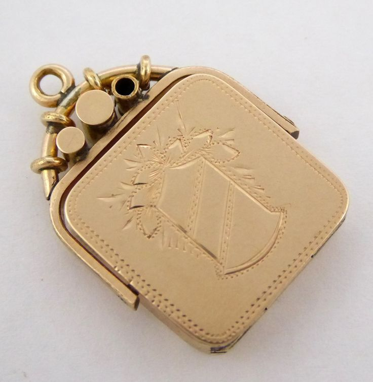 Vintage Gold Plated Swivel Photo Locket Pendant - The Collectors Bag