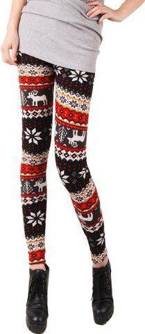 Christmas Legging. I'd totally rock these.