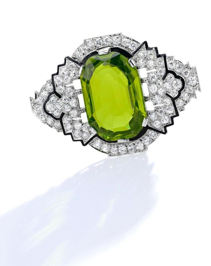 Buy online, view images and see past prices for PLATINUM, PERIDOT, DIAMOND AND ENAMEL BROOCH. Invaluable is the world's largest marketplace for art, antiques, and collectibles.