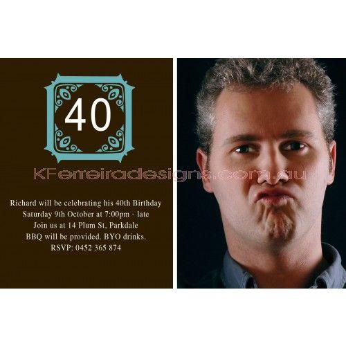Dot Male Birthday Invite Design 24 - For Men - Adult Birthday Invites - Birthday Invites - Invites & Cards - Event Items
