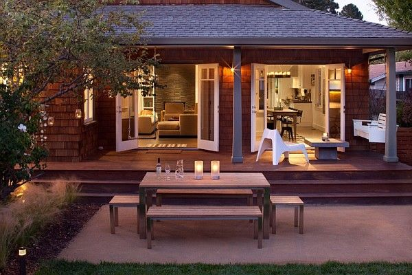 Mill Valley bungalow Old Bungalow in California Gets Contemporary Makeover Keeps Rustic Feel
