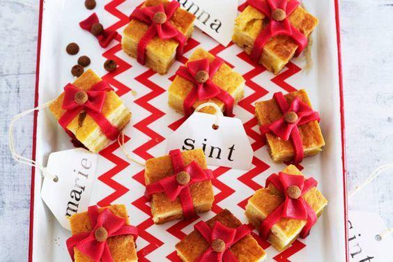 Sinterklaas recept: Sint en Piet cake cadeautjes