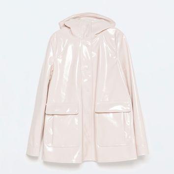 pink glossy cute RAINCOAT