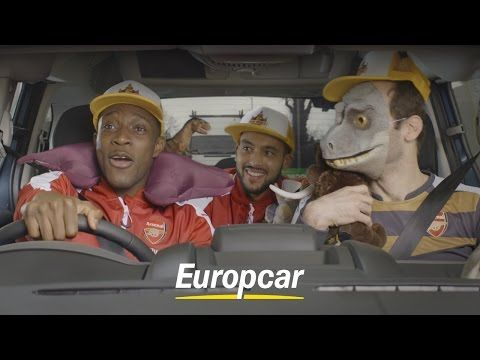 Three Arsenal players in a hire car  the full video