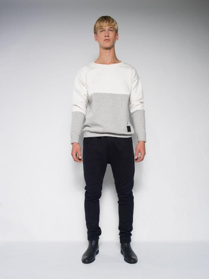 MALE CREAMY SWEATSHIRT Winter warm sweatshirt Christmas gift for men