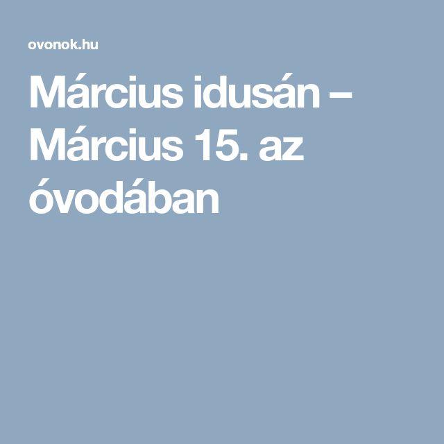 Március idusán – Március 15. az óvodában