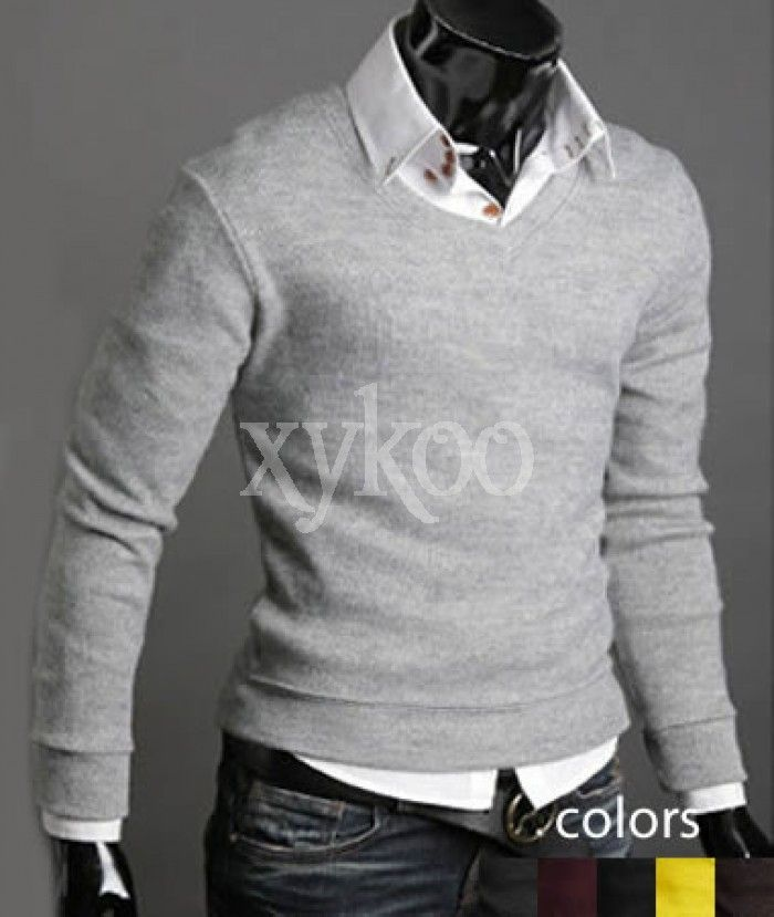 V-Neck Sweater and Button up shirt
