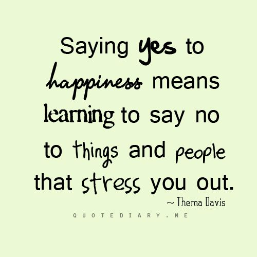 saying yes to happiness...