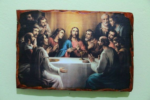 The last Supper. Handmade in Hellas-Greece. Dimensions: 7,85 × 11,80 inches / 20 × 30 cm