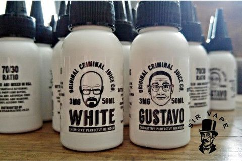 White 50ml  Highly complex vape which some people say tastes like melted iceream.
