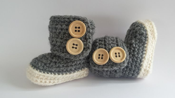 Gebreide & gehaakte schoenen - Gehaakte baby booties - Een uniek product van FrisianKnitting op DaWanda