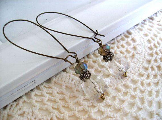 OOAK Edwardian Inspired Assemblage Vintage Earrings by ReDESIGNProductions1