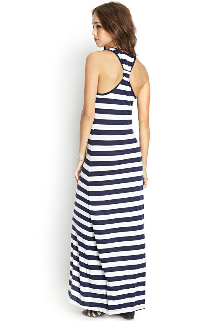 Knotted Stripe Maxi Dress - FOREVER21 - 2000090436 - Beach Fashion ...