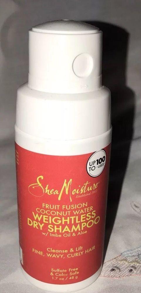 New Shea Moisture Fruit Fusion Coconut Water  weightless dry shampoo 1.7 Oz  | eBay