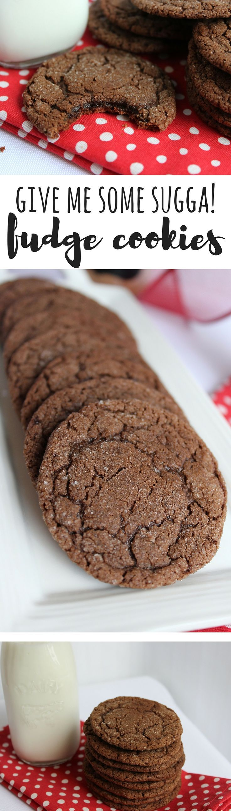 """What a treat! These are the perfect chocolate fudge cookie. They're easy to throw together, simple ingredients and oh so delicious."""