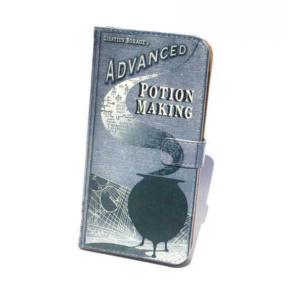 Book iphone wallet case- Harry Potter Advanced Potion Making Book Wallet phone case - for iPhone 6, 6s, 6s plus, 5, 5s, 5c, iPhone 4, 4s- Samsung